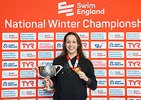 Picture by Allan McKenzie/SWpix.com - 16/12/2017 - Swimming - Swim England Nationals - Swim England Winter Championships - Ponds Forge International Sports Centre, Sheffield, England - Chloe Golding takes gold in the womens open 200m backstroke.