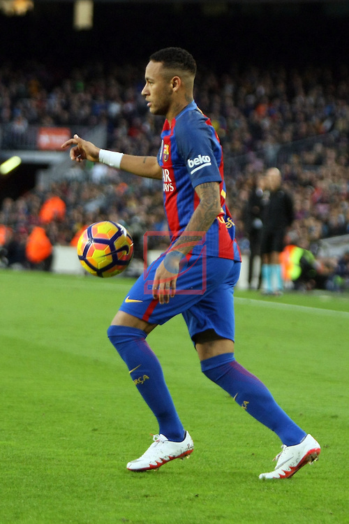 League Santander 2016/2017. Game: 12.<br /> FC Barcelona vs Malaga CF: 0-0.<br /> Neymar Jr.