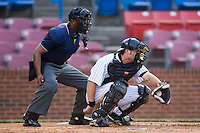 Catcher Adam Ricks (51) of the Winston-Salem Warthogs catches a pitch versus the Frederick Keys at Ernie Shore Field in Winston-Salem, NC, Saturday, June 7, 2008.