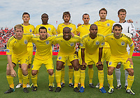 23 April 2011: The Columbus Crew starting eleven during an MLS game between the Columbus Crew and the Toronto FC at BMO Field in Toronto, Ontario Canada..The game ended in a 1-1 draw.