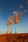 USA, Arizona, Page, Navajo Generating Station, a coal-fired electrical powerplant located on the Navajo Indian Reservation