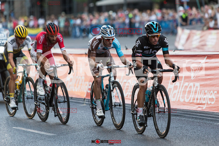 Chetout, Kennaaugh, Jauregui and Bouwman during the last stage or La Vuelta of Spain in Madrid. September 10, 2016. (ALTERPHOTOS/Rodrigo Jimenez) NORTEPHOTO.COM