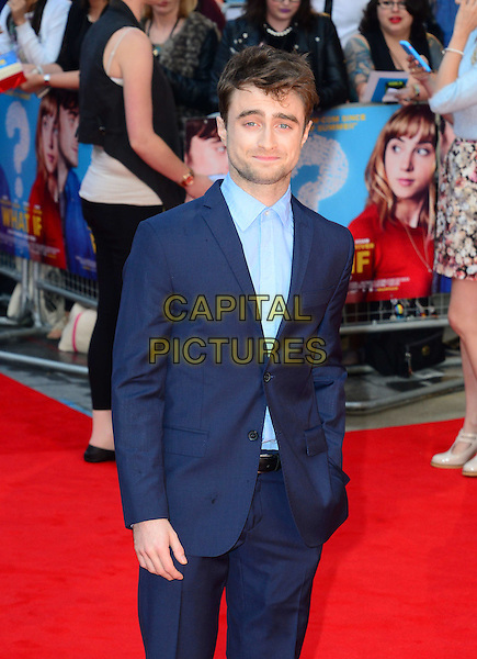 Daniel Radcliffe<br /> attends the 'What If'  of 'What If' at Odeon West End cinema  on August 12, 2014 in London, England<br /> CAP/JOR<br /> &copy;Nils Jorgensen/Capital Pictures