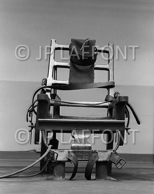 Osening, New York. Sing Sing Prison, November 1970. The electric chair. The first part of the prison opened in 1828.