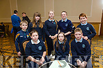 Pictured at the Tralee Credit Union Schools Quiz Brandon hotel on Sunday were Iseult Ni Bhriain, Micheal Savage, Jamie Burke, Alex Riordan, Aideen Lynch, Cian McCarthy, Saoirse Glavin Murphy and Alyssa Leen from O'Brennan NS Tralee