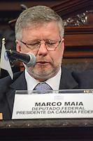 RIO DE JANEIRO-15/06/2012-Deputado Marco Maia na abertura da I Cupula Mundial de Legisladores, na ALERJ, centro do Rio.Foto:Marcelo Fonseca-Brazil Photo Press