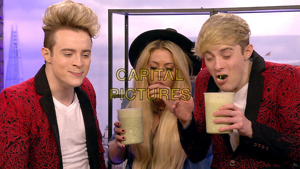 Celebrity Big Brother 2017<br /> Jedward, Bianca Gascoigne<br /> *Editorial Use Only*<br /> CAP/KFS<br /> Image supplied by Capital Pictures