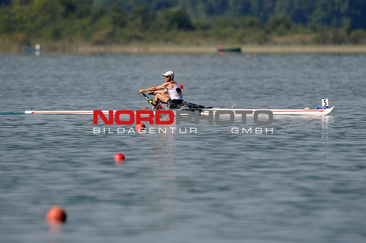 21 June,2014. World Cup Rowing, Aiguebelette, France. Jost Schoemann-Finck in action.<br /> <br /> Foto &copy; nph / Pier Paolo Piciucco