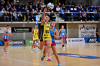 Pulse&rsquo; Whitney Souness in action during the ANZ Premiership - Pulse v Steel at Te Rauparaha Arena, Porirua, New Zealand on Wednesday 30 May 2018.<br /> Photo by Masanori Udagawa. <br /> www.photowellington.photoshelter.com