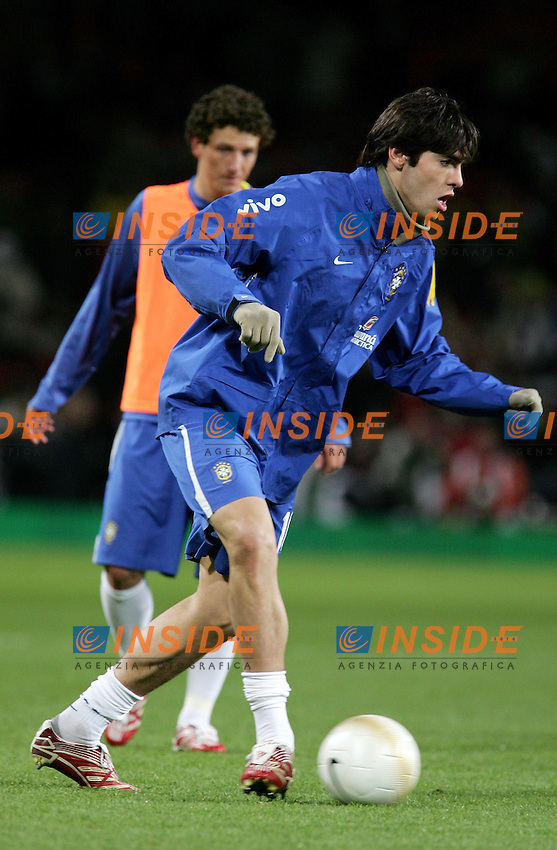 Brazil's Kaka before a friendly match at Emirates Stadium in London, Tuesday February 06, 2007. (INSIDE/ALTERPHOTOS/Alvaro Hernandez).