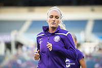 Orlando, Florida - Saturday, April 23, 2016: Orlando Pride midfielder Kaylyn Kyle (6) during warmup of an NWSL match between Orlando Pride and Houston Dash at the Orlando Citrus Bowl.