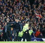 29.08.2019 Rangers v Legia Warsaw: Steven Gerrard and Gary McAllister