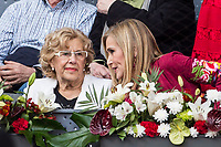 Manuela Carmena, Major of Madrid, and Cristina Cifuentes, president os Madrid during the ATP final of Mutua Madrid Open Tennis 2017 at Caja Magica in Madrid, May 14, 2017. Spain. /NortePhoto.com