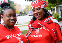 Fans gather for Badgers homecoming on Saturday, October 12, 2013 in Madison, Wisconsin