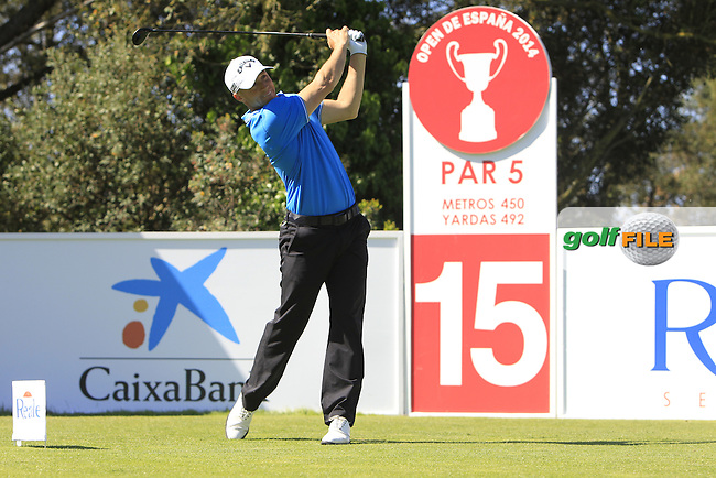 Alex Noren (SWE) on the 15th tee during Thursday's Round 1 of The Open De Espana at The PGA Catalunya Resort. 15th May 2014.<br /> Picture:  Thos Caffrey / www.golffile.ie
