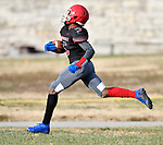 Roosevelt wide receiver Darrius Jackson runs in a touchdown. Roosevelt defeated Borgia in a Class 3 District 2 football game at Roosevelt HS in St. Louis on Saturday November 16, 2019. <br /> Tim Vizer/Special to STLhighschoolsports.com