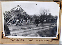 BNPS.co.uk (01202 558833)<br /> Pic: Bellmans/BNPS<br /> <br /> Germany 1945 'Viewing the wreckage'.<br /> <br /> A fascinating trove of SAS records including some of the first photographs of the elite force which have never been seen before has been unearthed. <br /> <br /> The extensive assortment, also including medals and documents, was accumulated by war hero Lance Corporal William James Cooke at the end of World War Two. <br /> <br /> Remarkable images of Cooke's previously unrevealed wartime exploits show him serving behind enemy lines in occupied France and assisting with the liberation of Norway. <br /> <br /> His accomplishments have come to light after a family member presented the bequeathed collection to Hampshire-based auctioneer Bellmans, which will sell it tomorrow.