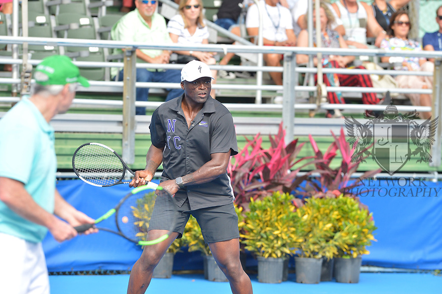 DELRAY BEACH, FL - NOVEMBER 24: Patrick McEnroe and Seal attends the 30TH Annual Chris Evert Pro-Celebrity Tennis Classic Day3 at the Delray Beach Tennis Center on November 24, 2019 in Delray Beach, Florida.  ( Photo by Johnny Louis / jlnphotography.com )