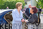 Margaret Wrenn welcomes the President on Friday