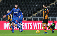 Bolton Wanderers' Marc Wilson competing with Hull City's  Ondrej Mazuch<br /> <br /> Photographer Andrew Kearns/CameraSport<br /> <br /> The EFL Sky Bet Championship - Hull City v Bolton Wanderers - Tuesday 1st January 2019 - KC Stadium - Hull<br /> <br /> World Copyright © 2019 CameraSport. All rights reserved. 43 Linden Ave. Countesthorpe. Leicester. England. LE8 5PG - Tel: +44 (0) 116 277 4147 - admin@camerasport.com - www.camerasport.com