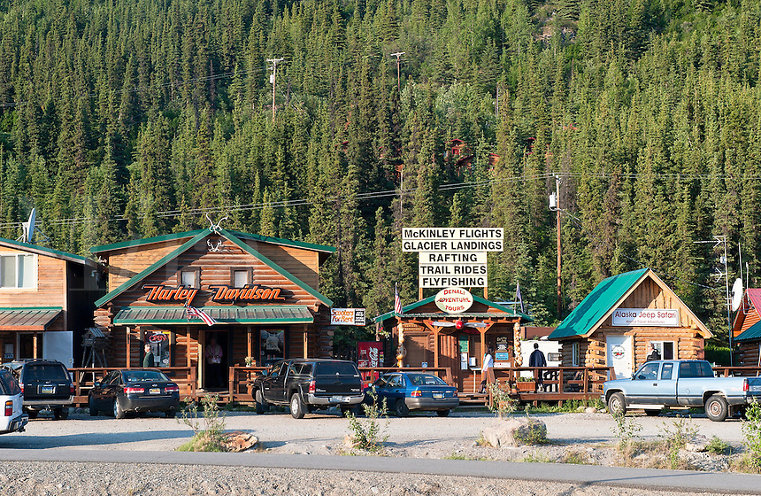 Adventure services for tourists located just outside of Denali National Park, Alaska, USA