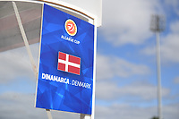 20200304  Parchal , Portugal : illustration picture showing the Danish bench during the female football game between the national teams of Denmark and Norway on the first matchday of the Algarve Cup 2020 , a prestigious friendly womensoccer tournament in Portugal , on wednesday 4 th March 2020 in Parchal , Portugal . PHOTO SPORTPIX.BE | DAVID CATRY