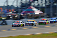 14 February, 2010, Daytona Beach, Florida USA USA.Greg Biffle (#16), Kyle Busch (#18) Jeff Gordon (#24) and Kurt Busch (#2) race for the lead up the back straight..©F. Peirce Williams 2010 USA.