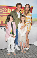 "Kevin Bishop and his family at the ""Horrible Histories: The Movie - Rotten Romans"" world film premiere, Odeon Luxe Leicester Square, Leicester Square, London, England, UK, on Sunday 07th July 2019.<br /> CAP/CAN<br /> ©CAN/Capital Pictures"