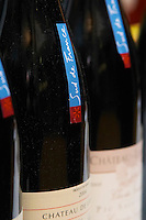 Neck strip label with Sud de France, South of France slogan. Languedoc. France. Europe. Bottle.