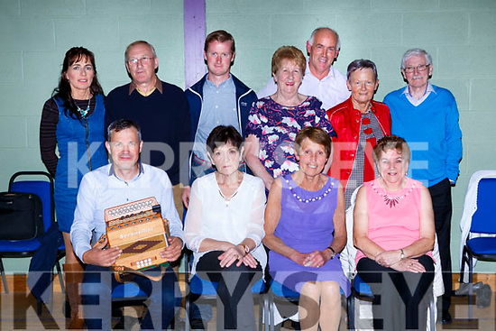 Enjoying the Ceili in Fossa Community hall on Saturday night front row l-r: John Breen, Eileen O'Connor, Marie O'Donnell and Patricia Kneafsey. Back row: Martina Breen, Tony O'Connor, Timmy Buckley, Bernie Warren, Tim Kissane, Pat White, and Brendan Whelan