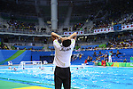 Yoji Omoto (JPN), <br /> AUGUST 14, 2016- Water Polo : <br /> Men's Preliminary Round group A<br /> match between Serbia - Japan <br /> at Olympic Aquatics Stadium<br /> during the Rio 2016 Olympic Games in Rio de Janeiro, Brazil. <br /> (Photo by Yohei Osada/AFLO SPORT)