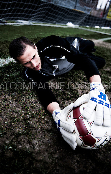 Belgian football player / goal keeper Sammy Bossut (Belgium, 12/02/2013)