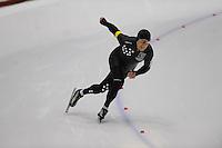 SCHAATSEN: HEERENVEEN: Thialf, 4th Masters International Speed Skating Sprint Games, 25-02-2012, Victor van den Hoff (M55) 1st, ©foto: Martin de Jong
