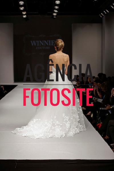 Nova Iorque, EUA &ndash; 10/2013 - Desfile de Winnie Couture durante a Semana de Moda Noiva - Inverno 2014. <br /> Foto: FOTOSITE