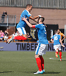 James Tavernier celebrates his goal with Lee Wallace