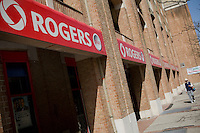 A Rogers store is pictured in Toronto April 20, 2010. Rogers Communications Inc. (TSX: RCI.A, TSX: RCI.B, NYSE: RCI) is one of Canada's largest communications companies, particularly in the field of wireless communications and cable television, with additional telecommunications and mass media assets.