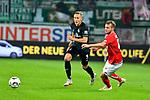04.11.2018, Opel-Arena, Mainz, GER, 1 FBL, 1. FSV Mainz 05 vs SV Werder Bremen, <br /> <br /> DFL REGULATIONS PROHIBIT ANY USE OF PHOTOGRAPHS AS IMAGE SEQUENCES AND/OR QUASI-VIDEO.<br /> <br /> im Bild: Ludwig Augustinsson (SV Werder Bremen #5), Daniel Brosinski (#18, FSV Mainz)<br /> <br /> Foto © nordphoto / Fabisch