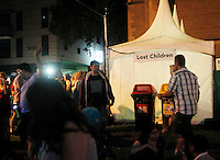 White Night in Melbourne on February 21 , 2015<br />   lost children stand