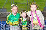 GREEN & GOLD: Shouting for Lixnaw on Sunday l-r: Caoimhe Shanahan, Edele Browne and Caitlin McCorrmack.