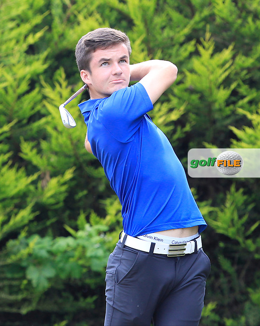 Daniel O'Loughlin (England) on the 5th tee during Round 2 of the Irish Boys Amateur Open Championship at Tuam Golf Club on Wednesday 24th June 2015.<br /> Picture:  Thos Caffrey / www.golffile.ie