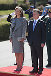 Colombia´s President Juan Manuel Santos and his wife Maria Clemencia Rodriguez during the welcome ceremony with Spanish Royals at the Pardo Palace in Madrid, Spain. March 01, 2015. (ALTERPHOTOS/Victor Blanco)