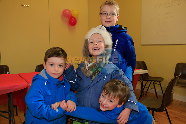 Tristan Bissau alexander Betz Adan Kean Simon Betz at the St Finian's NS Parents' Association Cake Sale<br /> Picture Fran Caffrey / Newsfile