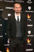 Raul Arevalo attends the Feroz Cinema Awards 2015 at Las Ventas, Madrid,  Spain. January 25, 2015.(ALTERPHOTOS/)Carlos Dafonte) /NortePhoto<br /> <br /> nortePhoto.com