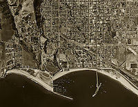 historical aerial photograph Santa Barbara California 1947