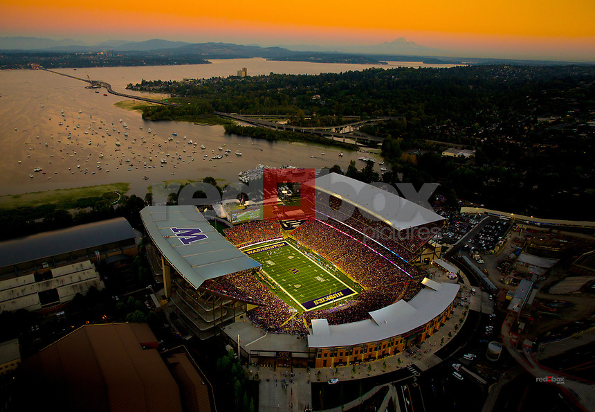 The University of Washington opened its new stadium with a win over Boise State 38-6 on Saturday August 31, 2013. (Photo by Scott Eklund /Red Box Pictures)