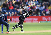 Jun 6th, The SSE SWALEC, Cardiff, Wales; ICC Champions Trophy; England versus New Zealand; Kane Williamson of New Zealand hits a four