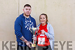 Kenneth Mannix and Kerrie Ann Williams Kissane two of the organising committee for the Jack O'Sullivan 3rd annual Memorial five-a-side soccer tournament held in the Ballybunion Community Centre on Sunday last.