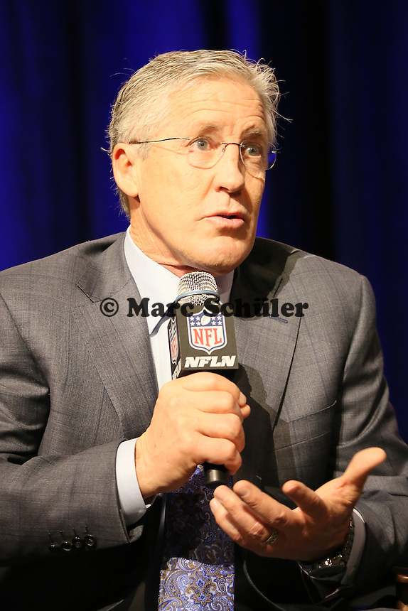 Head Coach Pete Carroll (Seahawks)  - Gemeinsame Team Pressekonferenz Super Bowl XLIX, Convention Center Phoenix