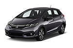 2018 Honda Jazz Exclusive 5 Door Hatchback angular front stock photos of front three quarter view