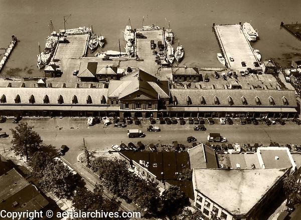 historical aerial photograph Washington Fish Market, Washington, DC, 1931